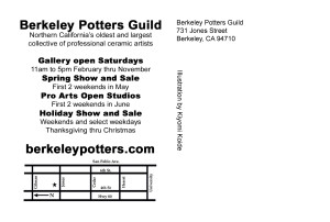Berkeley Potters Guild Back Postcard 2015